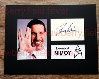 Leonard NIMOY Signed Autograph Photo Display Star Trek