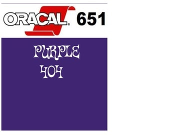 Oracal 651 Vinyl Purple (404) Adhesive Vinyl - Craft Vinyl - Outdoor Vinyl - Vinyl Sheets - Oracle 651