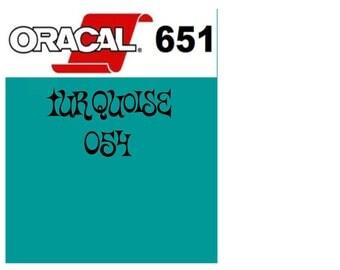 Oracal 651 Vinyl Turquoise (054) Adhesive Vinyl - Craft Vinyl - Outdoor Vinyl - Vinyl Sheets - Oracle 651