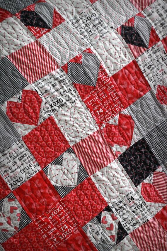 Valentine Quilt Pattern Throw Pattern Lap Quilt