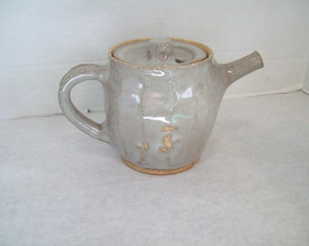 Vintage Stoneware, Pottery Teapot, Tea Pot Signed By Artist Free Shipping
