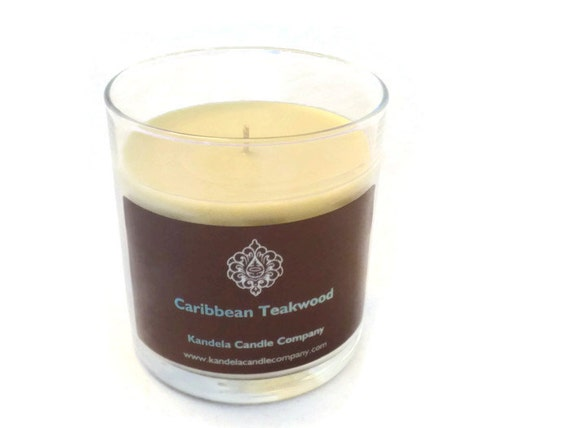 Caribbean Teakwood Scented Candle in 13 oz. Straight Tumbler