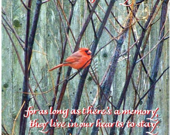 Sympathy Card with Male Cardinal