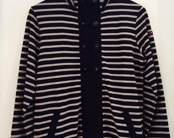 Ladys sweatshirt in stripes black/ grey