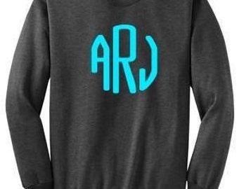Monogrammed Sweatshirt, monogrammed crewneck sweatshirt