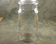 Vintage Planters Peanuts Glass Jar With Lid