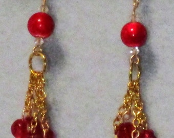 Red and Gold Sparkle