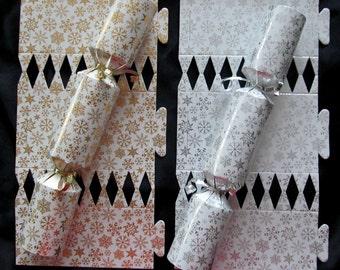Make my own poppers etsy christmas cracker kit party cracker popper favors gold silver metallic diy custom crackers solutioingenieria Images