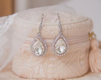 Crystal Bridal Earrings, Bridesmaid Earrings, Rhinestone Earrings, Wedding Earrings, Bridesmaid Gift, Wedding Jewelry,