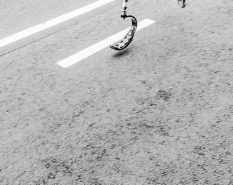 SUPERMAN. inspiring picture,triathlon print,photographic print,black and white print,limited edition print