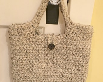 MEMORIAL DAY SALE: Farmers Market Tote/Crochet Tote/Crochet Market Bag/Crochet Book Bag/Sturdy Market Tote/Reusable Bag.**Ready to Ship**