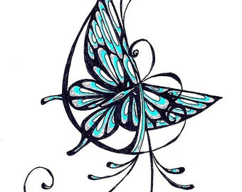 Butterfly with Filigree