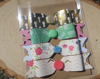 Paper bows set of 4