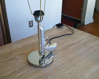 Silver Gun Lamp