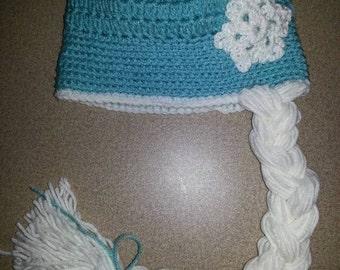 Elsa from Frozen Crochet Beanie