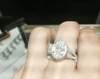Oval 2.2 Carat Diamond Engagement Ring
