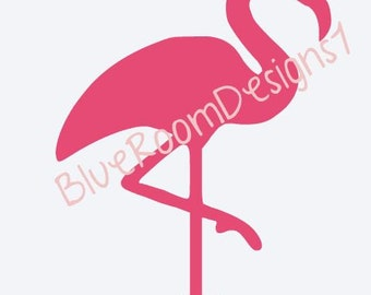 Flamingo Pink Flamingo  Vinyl Decal  Yeti Decal   Ipad Decal  MacBook Decal  Window Decal  Track Pad Decal  Vinyl Sticker Car Truck