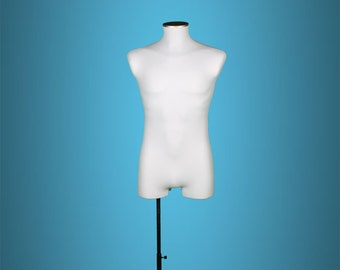 Male Licra white Mannequin bust