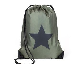 Star sports bag Khaki/Black modern Casualstyle