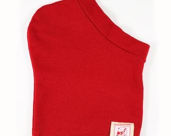 Red fleece hood scarf