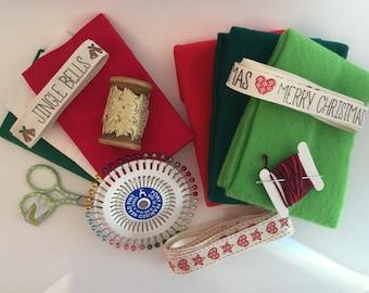SALE ITEM! FabHab Box - Christmas Edition - Haberdashery Kit