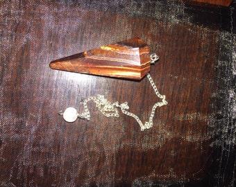 Red Tigers Eye handmade Pendulum