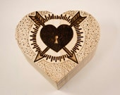 Valentine's Day Keepsake Trinket Box Jewellery Box Personalised Wooden Hand Burned Pyrography