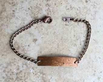 Copper Chain & Tag