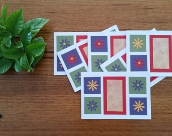Greeting cards (set of 6) - Flower Boxes