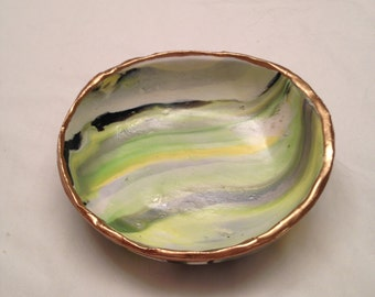 All is Fine with Lemon & Lime - Handmade Jewelry Dish