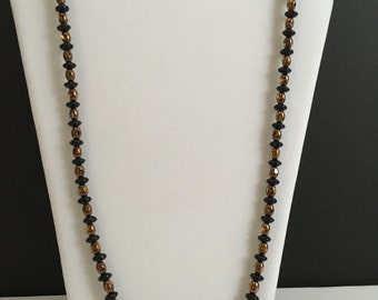 Black and Copper Bliss Necklace