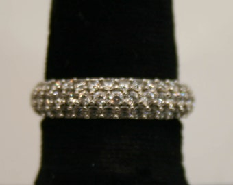 Sterling silver and cubic zirconia ring size 7.25