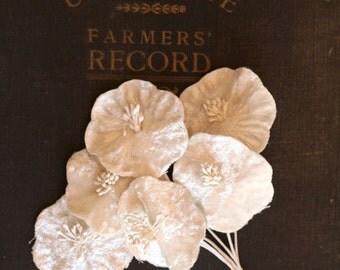 Vintage Style Velvet Flowers - Assemblage, Mixed Media, Wedding, Altered Art