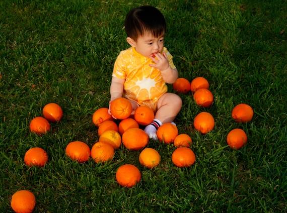 Beecoolestcompany Orange baby one piece