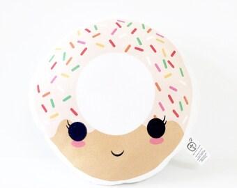 Donut Pillow, Nursery Pillow, Pink Donut, Baby Gift, Kids Gift, Kids Decor, Kawaii Donut, Kawaii Pillow, Donut Cushion, Stuffed Donut, Girl