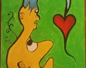 Cartoon style original painting