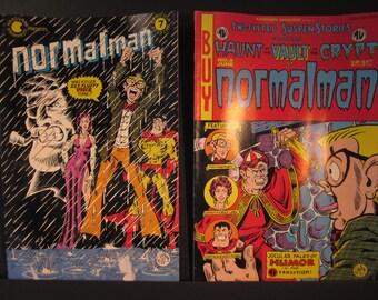 Normalman #3 and #7, June 1984-85, Aardvark- Vanaheim comics