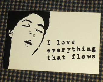 Everything that flows sticker