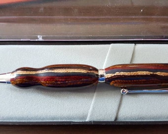 Multi Colored dyed layers Twist Pen