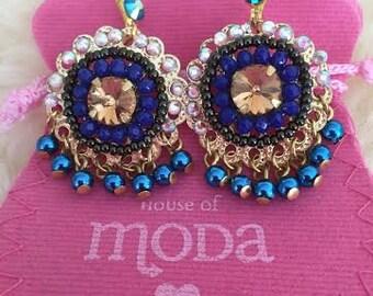 HouseofModa classic Swarowski crystal dangle and drop earrings