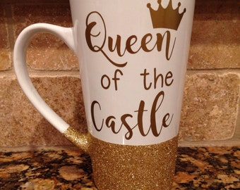 Queen of the Castle // Glitter Dipped Coffee Mug