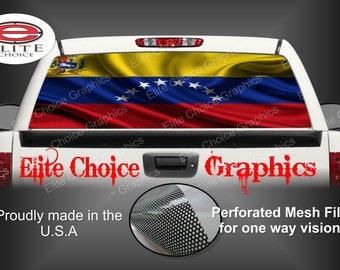 Venezuela Flag Rear Window Graphic Tint Decal Sticker Truck SUV Van Car