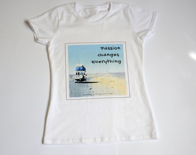 Land Rover-wanderlust t shirt-t shirts with sayings-womens t tops-travel-offroad-travel gifts for women-original design by ©WhenWomanTravels