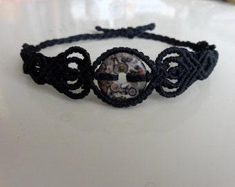 Macrame Bracelet with Poppy Jasper