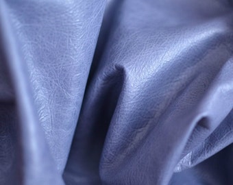 Light Blue Leather 65 cm x 70cm Italian Soft Blue Genuine Leather Hide 0.6 mm Thickness Soft Lamb Hide Leather 10052