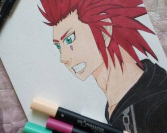 Kingdom Hearts. Axel fan art