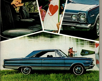 1967 Plymouth Belvedere vintage magazine ad wall decor man cave