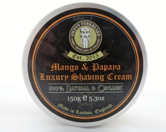 Shaving Cream Mango & Papaya 150g / 5.3oz by Sweyn Forkbeard