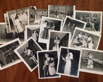 Vintage Photos of Army Entertainers-1940s