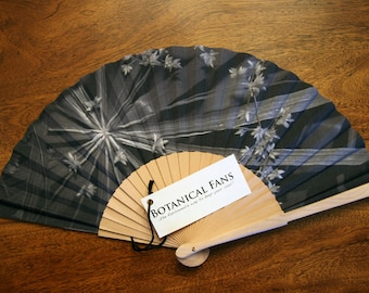 Set of 10 Botanical Fans Cotton and Wood - ON SALE!